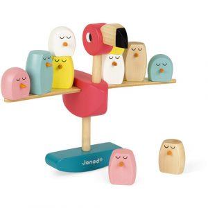 houten balans flamingo