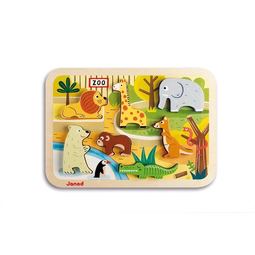 houten puzzel dierentuin
