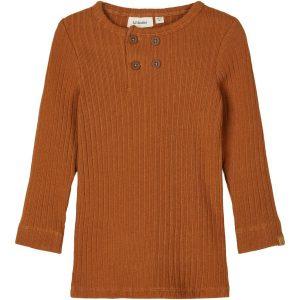 Lil Atelier shirt geribd bruin