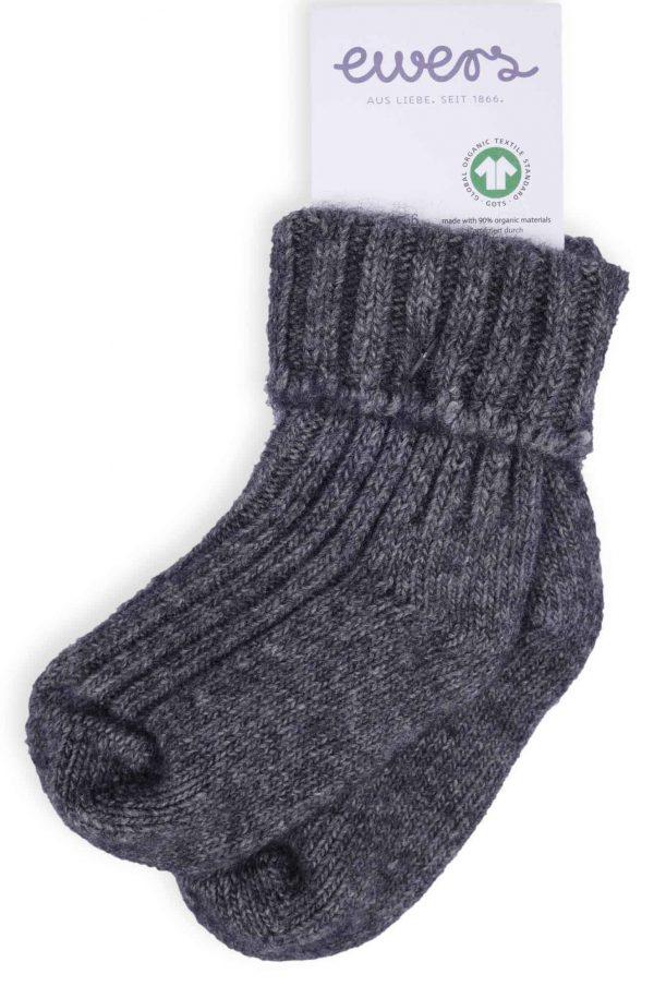 Ewers Wollen sokken omslag antraciet 2