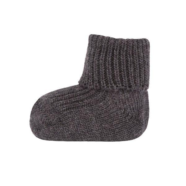 Ewers Wollen sokken omslag antraciet