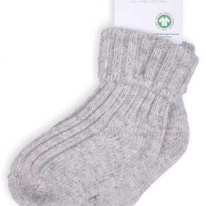 Ewers Wollen sokken omslag lichtgrijs