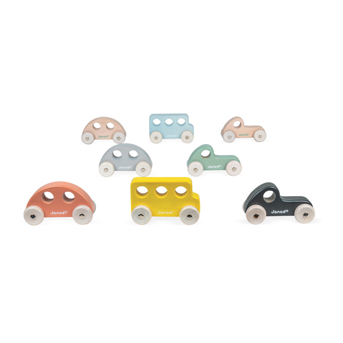 Janod speelgoedauto's overzicht