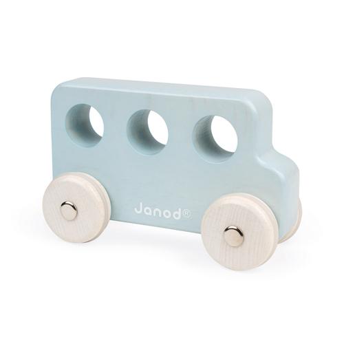 Janod speelgoed bus blauw