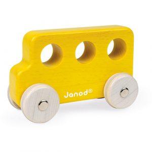 Janod speelgoed bus geel