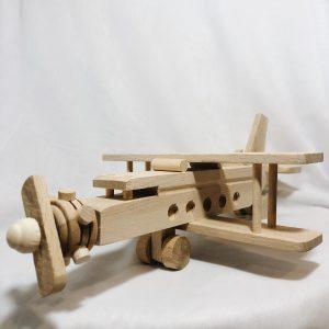 Houten speelgoed vliegtuig